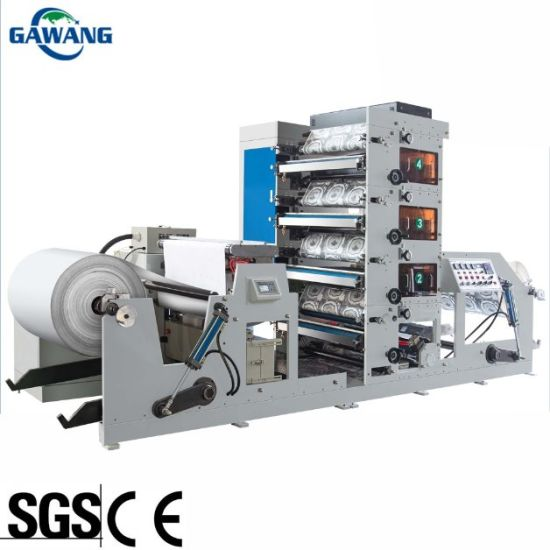 Auto High Speed High Quality High Precision Paper Cup/Label/Paper Bag Flexo Printing Machine with Ce