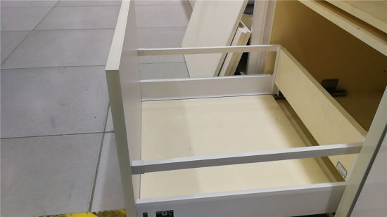 China Double Wall Drawer Slides Soft Close Concealed System