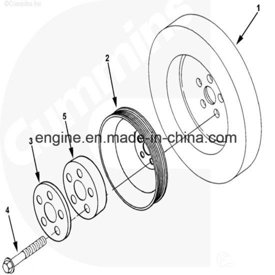 China Cummins Ism Qsm11 Crankshaft Pulley 3400877 Vibration Damper