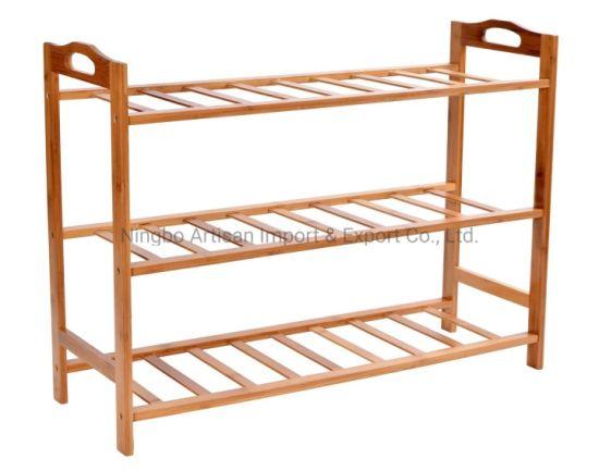 Hot Sale 3-Tiers Bamboo Shoes Rack Shelf Organizer