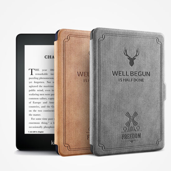 Shockproof Case for Amazon Kindle Paperwhite Quality Ledder Cover OEM