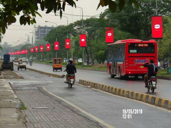 Outdoor Branding Street Pillar Fixed Light Pixel Pitch 4mm LED Screen Display