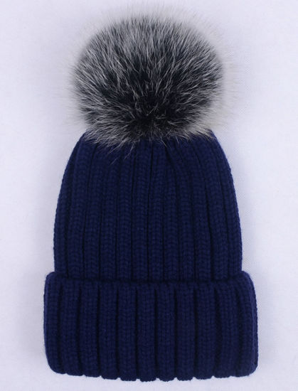 6621a0ed06c44 China Winter Warm Beanie Knitted POM POM Hat Fur for Women - China ...