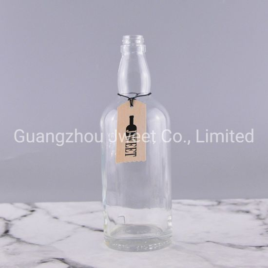 Customize 750ml Empty Whisky Glass Bottle Wholesale Spirit Bottles