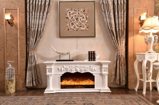 China Recessed Wall Mounted Electric Fireplace With Insert Gas