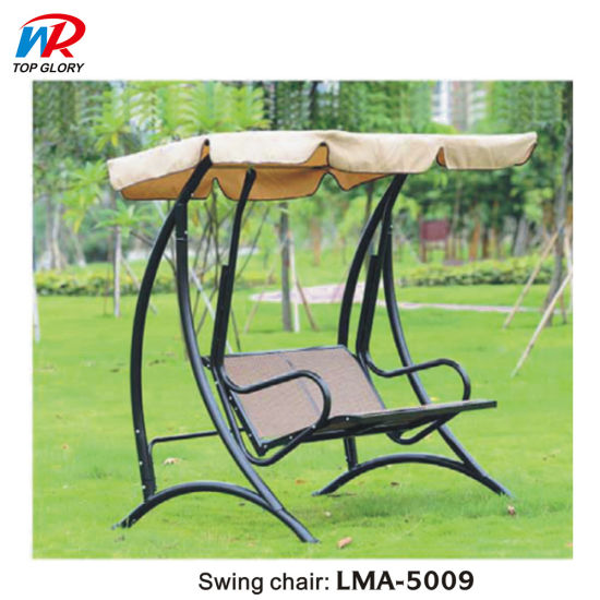Modern Outdoor Patio Swing Chair Two Seat Patio Swing Wicker Chair
