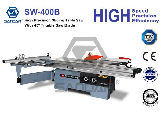 Woodworking Tiltable Blade Type Panel Sliding Table Saw