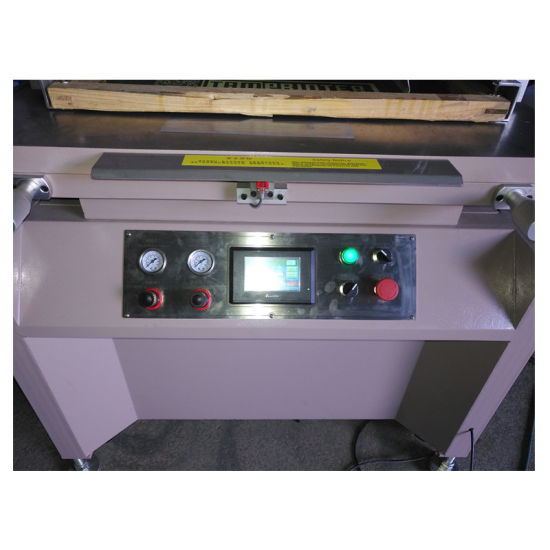 High Quality Vertical Single Servo Flat Screen Printing Machine pictures & photos