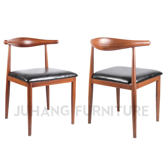 Factory Japanese Style Wood Grain Iron Cafe Restaurant Chair (HM-A024)