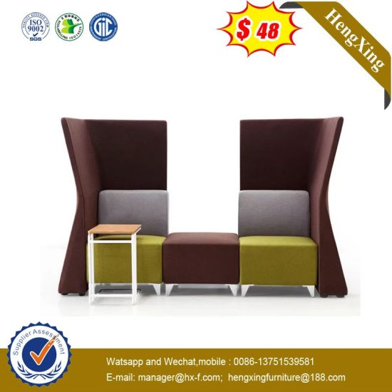 Unique 2 Seats Hotel Bar Waiting Room Leather Sofa Public Chair Hx-9cn0676