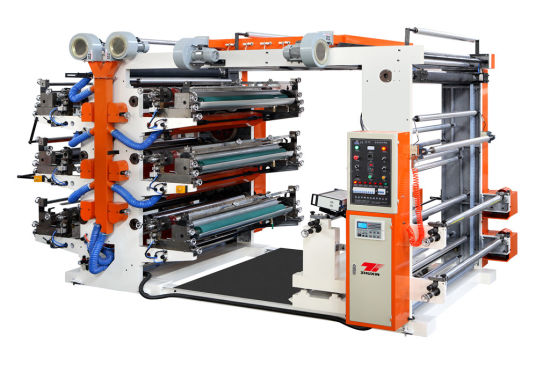 High Speed Six Color Automatic Flexo Printing Machine for Paper and Film