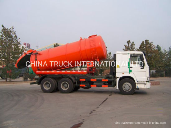 China HOWO 16cbm 6X4 Clean Truck/ Septic Tank Trucks - China