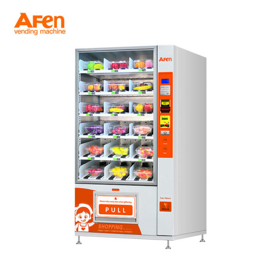 Afen Hot Selling Condom Drinks and Can Food Auto Combinational Vending Machine