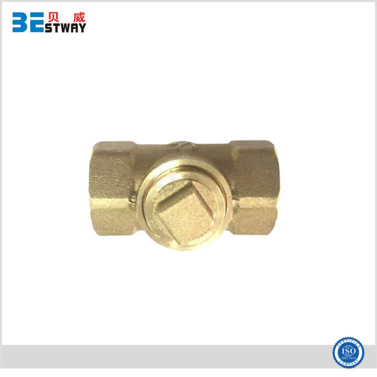 "Brass Plug Valve 1/2"" (DN15) pictures & photos"