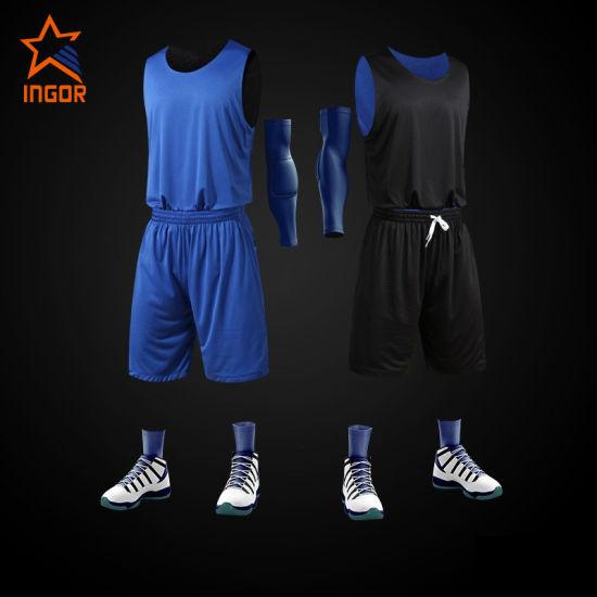 Wholesale Custom Men Sublimation Cool Mesh Side Reversible Sport Basketball Jersey