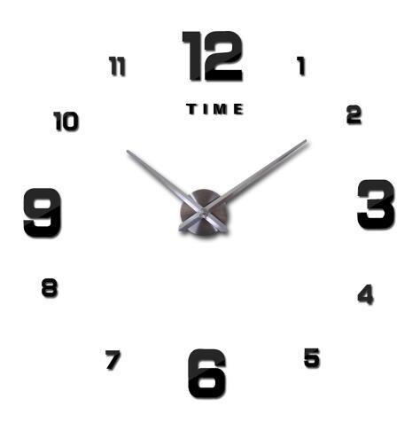 Customized Creative DIY 3D Large Size Mute Wall Clock