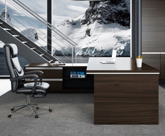 Contract Project Modern Office Wooden Manager Standing Table Executive Table