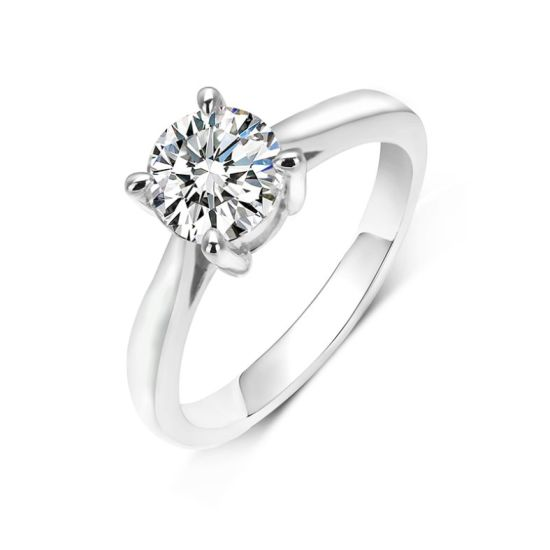 Wholesale 925 Sterling Silver Ring 1CT Moissanite Wedding Rings Women