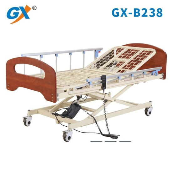 Steel Mesh Bed Board Three Functions Electric Home Care Bed