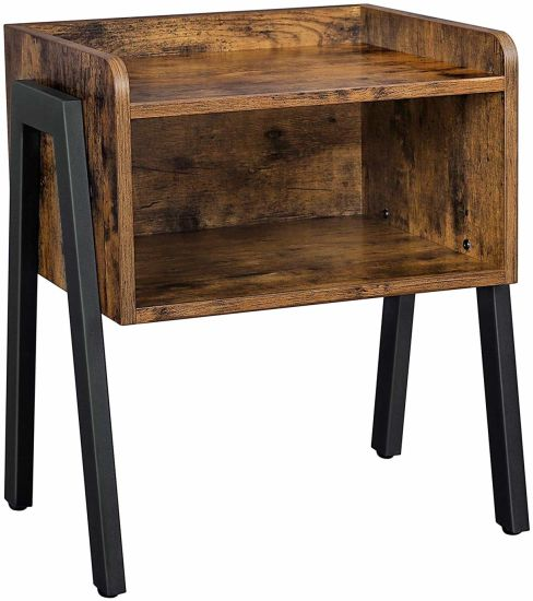 Industrial Coffee Side Tables For Small, Small Side Tables For Living Room With Storage