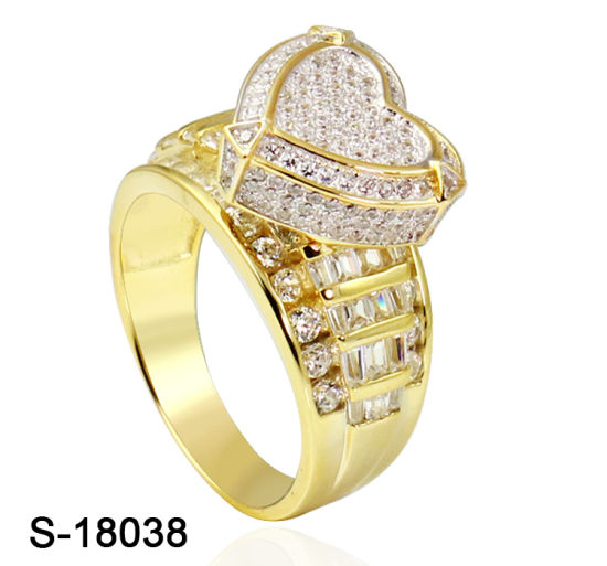 Hip Hop Fashion Jewelry 925 Sterling Silver Cubic Zirconia Ring for Women pictures & photos