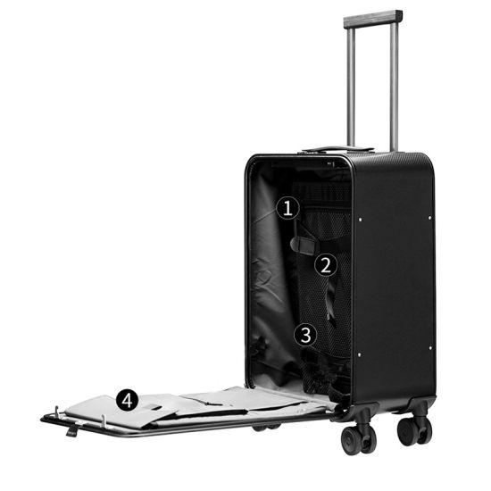 Poortable Business Carry-on Stylish Leisure Travel Aluminum Luggage Suitcase Set