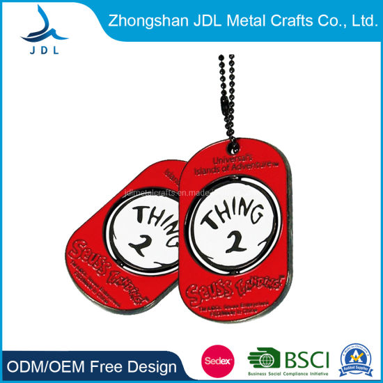 Custom Cheap Iron Universal Island of Adventure Metal Dog Tag for Decoration (019) pictures & photos