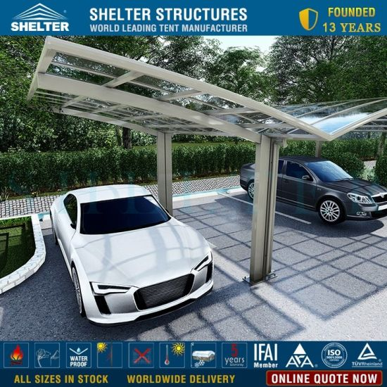 China Luxury Aluminium Single Modern Arch Roof Carport For Sale Polycarbonate Car Shelter China Car Shelter And Metal Carport Price