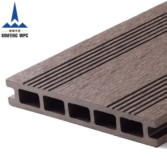 Brushed Surface Wood Plastic Composite WPC Decking