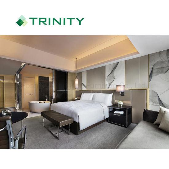 Custom Made Luxury Hospitality Room Modern Hotel Bedroom Furniture Set for Jw Marriott 5 Star