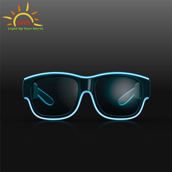 Italy Fashion Classical Party Light up Glasses Flashing Sunglasses Rechargeable EL Glasses