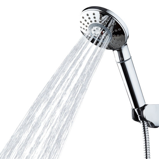 China Adjustable Handheld Shower Head With Filter For Hard Water