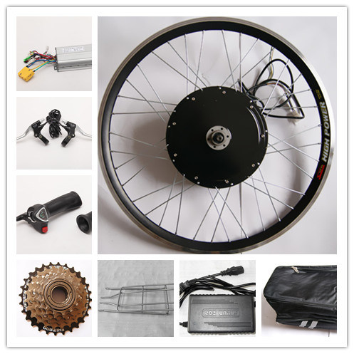 48V 1000W Electric Bicycle Conversion Kit with Optional 21ah Battery pictures & photos