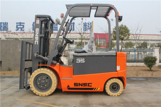 4 Wheel Battery Power 3.5 Ton Electric Forklift