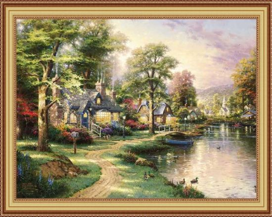 Factory Direct Wholesale Cheapest Cross Stitch Diamong Painting, DIY Diamond Painting, Canvas Painting, Chinese Painting (A5091)