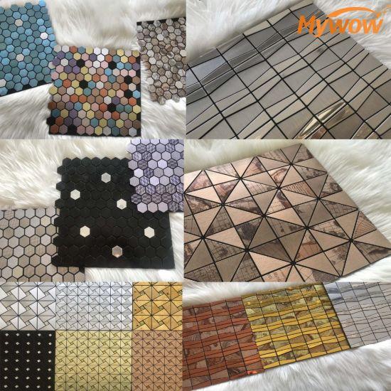 Easy Clean Kitchen Glass Mosaic Tile Self-Adhesive Mosaic