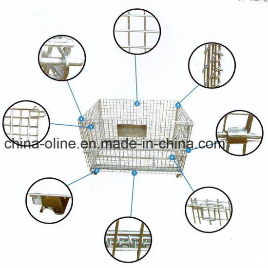 Steel Wire Mesh Pallet Cage for Warehouse Storage pictures & photos
