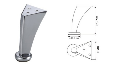 Aluminium Furniture Leg, Aluminium Sofa Leg (SL-317) pictures & photos
