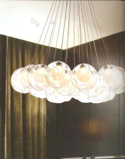 Ball Lamp Glass Material Clear Color Different Size for Project Decoration