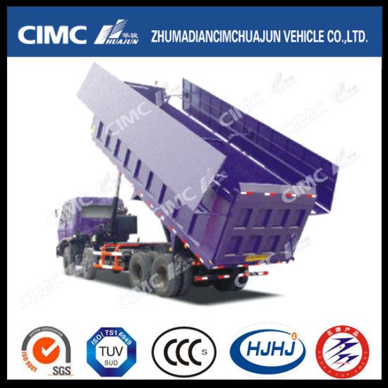 HOWO/JAC/Shacman/Foton/Beiben/FAW/Iveco 8*4 Dump Truck with Cimc Huajun Cargo Box and Hydraulic Wingspan