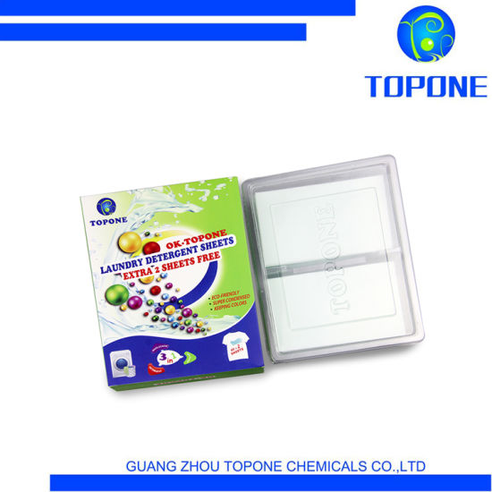 Eco-Friendly Feature Nano Condensed Stain Remove Cleaner Laundry Detergent Sheets