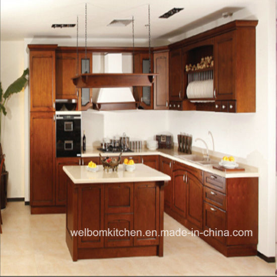 2016 Welbom Self Embled Modern Solid Wood Kitchen Cabinet