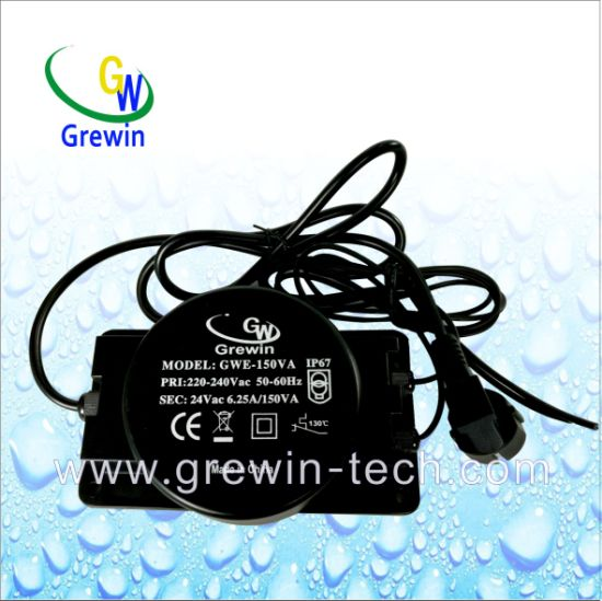 150va Escaplated Toroidal Waterproof Transformer for Pond LED Lighting