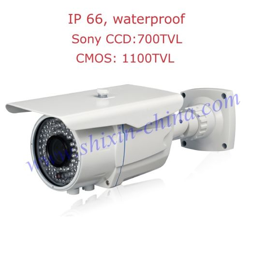 Bullet Security Camera Sony Effio-E 700tvl CCD with OSD Menu 36PCS LED IR Night Vision Waterproof Indoor&Outdoor 2.8-12mm Adjustable Lens+1 Yr Warranty pictures & photos