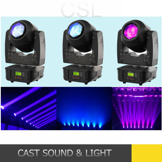 60W 8 Face Prism LED Zoom Moving Head DJ Lighting