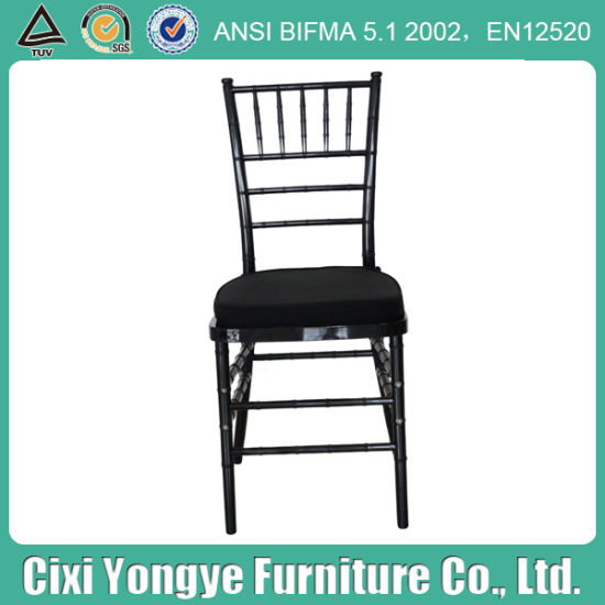 Black Plastic Resin Tiffany Chair for Banquet pictures & photos