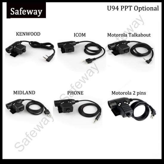 U94 Ppt Cable for Two Way Radio Tactical Headset pictures & photos