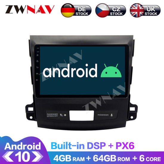 Android 10 Car Multimedia Player for Mitsubishi Outlander/Citroen C-Crosser/Peugeot 4007 Navi Stereo IPS Touch Screen Head Unit