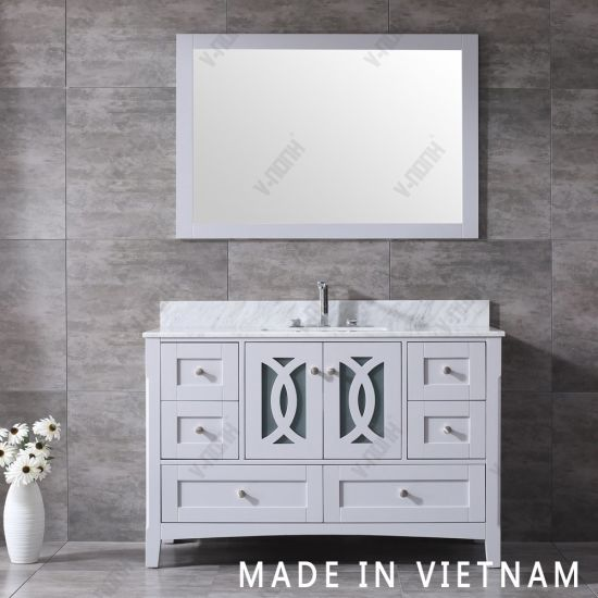 Dovetail Drawer Box Bathroom Vanity, What Size Mirror For Double Vanity