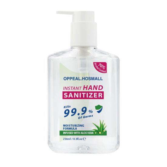 Wholesale 236ml Pocket 99.99% Antibacterial Mini Waterless Aloe Hand Sanitizer with 75% Alcohol